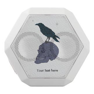 Raven On A Human Skull