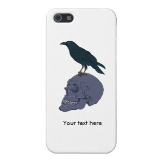 Raven On A Human Skull iPhone 5/5S Cover