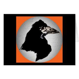 Raven on Orange Greeting Card