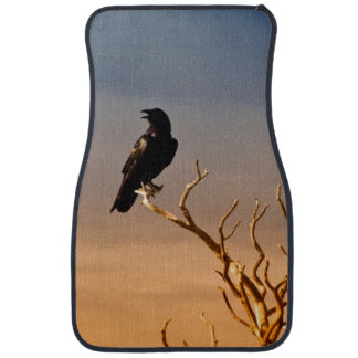 Raven on Sunlit Tree Branches, Grand Canyon Car Mat