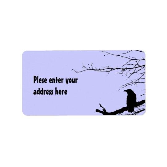 Raven on the Tree Address Label