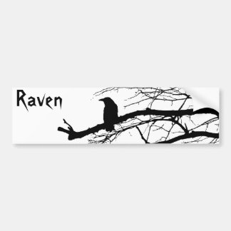 Raven on the Tree Bumper Sticker