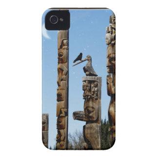 Raven on Totem-Pole Fantasy Blackberry Case