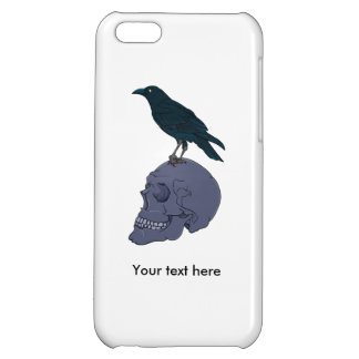 Raven Or Crow Standing On A Human Skull Case For iPhone 5C