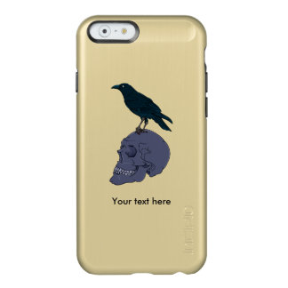 Raven Or Crow Standing On A Human Skull Incipio Feather® Shine iPhone 6 Case