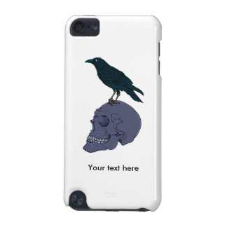 Raven Or Crow Standing On A Human Skull iPod Touch (5th Generation) Covers