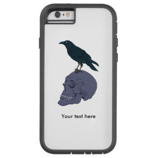 Raven Or Crow Standing On A Human Skull Tough Xtreme iPhone 6 Case