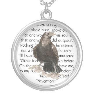 Raven over Edgar Allen Poe Poem, Nevermore Jewelry