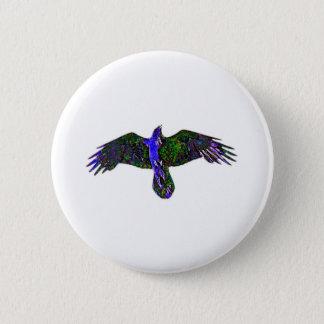 Raven Paint 6 Cm Round Badge