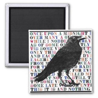 Raven Poem Edgar Allan Poe Magnet
