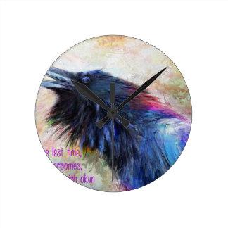 Raven Round Clock