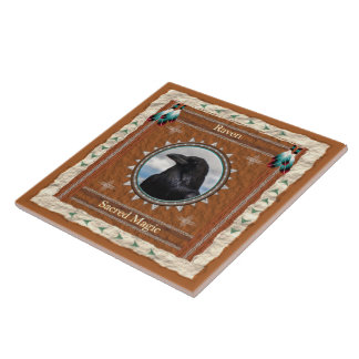 Raven  -Sacred Magic- Ceramic Tile