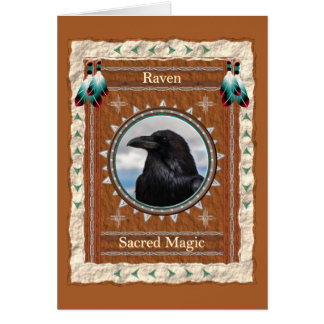 Raven  -Sacred Magic- Custom Greeting Card