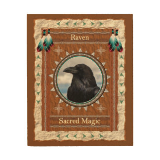 Raven  -Sacred Magic- Wood Canvas