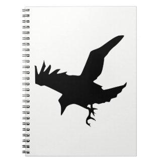 Raven Silhouette Notebooks