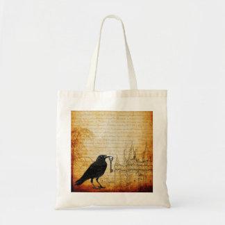 Raven Skeleton Key Castle Treasure Hunt Tote Bag