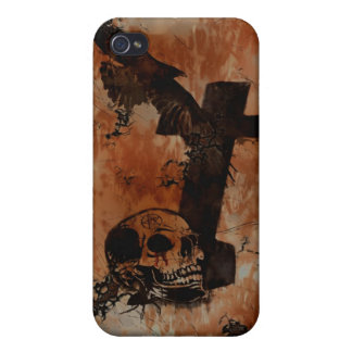 Raven, Skull, Headstone, Spider Gothic IPhone Case iPhone 4/4S Covers