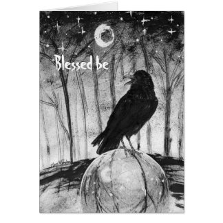 "Raven Sphere ""Blessed be"" Card"