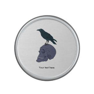 Raven Standing On A Skull Bluetooth Speaker