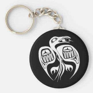 raven steals the sun , or is it the moon? key ring