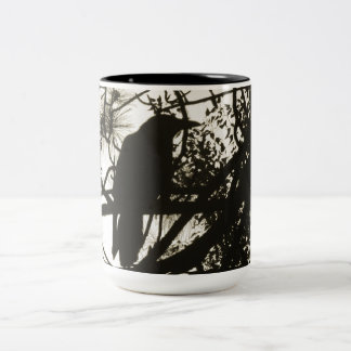 Raven Steampunk Two-Tone Coffee Mug