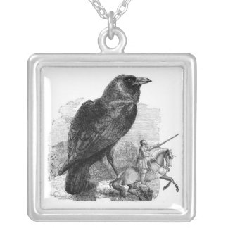 Raven & the Knight Silver Plated Necklace