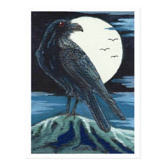 Raven & the Moon Postcard