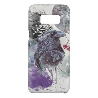 Raven Watercolor Abstract Background Samsung Case-Mate Samsung Galaxy S8 Case