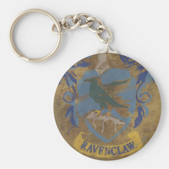 Ravenclaw Painting Basic Round Button Key Ring
