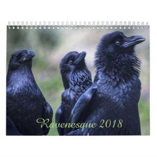 Ravenesque magical Bird 2018 18 month calendar