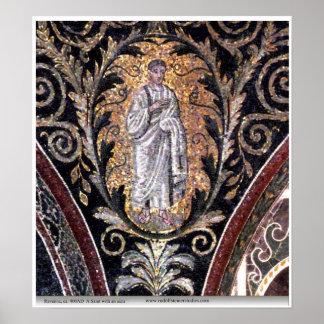 Ravenna Saint with aura Poster