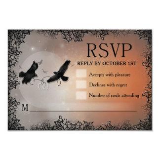 Ravens Halloween RSVP 3.5x5 Matching Reply Card