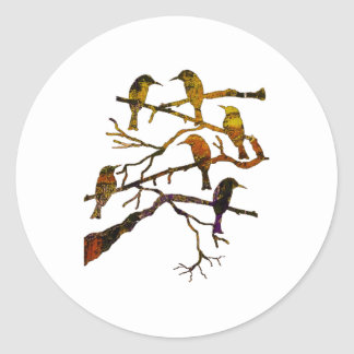 Ravens in the Mist Classic Round Sticker