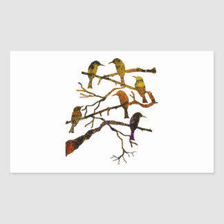 Ravens in the Mist Rectangular Sticker
