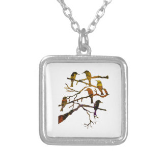 Ravens in the Mist Silver Plated Necklace