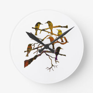 Ravens in the Mist Wall Clock