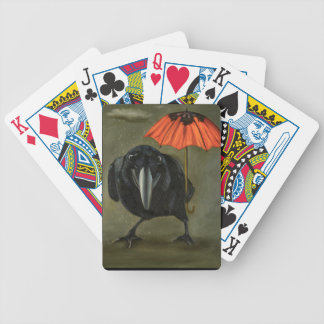 ravens rain 2 bicycle playing cards