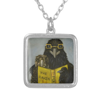 Ravens Read Silver Plated Necklace