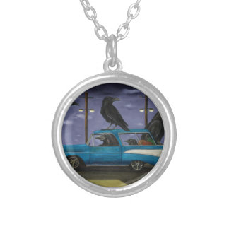 Ravens' Ride Silver Plated Necklace