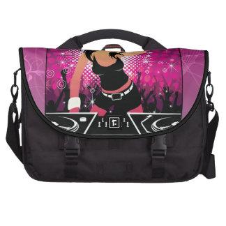 Raver Girl Dancing DJ Laptop Bags
