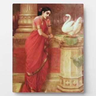 Ravi Varma Paintings-Hamsa Dhayamthi Plaque