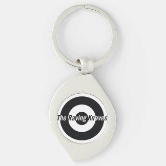 Raving Knaves Swirl Key fob Silver-Colored Swirl Key Ring