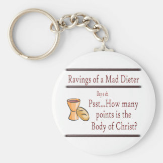 Ravings of a Mad Dieter_Communion Basic Round Button Key Ring