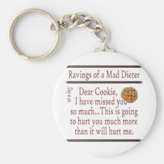 Ravings of a Mad Dieter_Cookie Basic Round Button Key Ring
