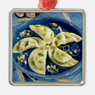 Ravioles with Bleu d'Auvergne For use in USA Metal Ornament