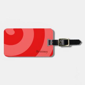 Ravishing Red Luggage Tag