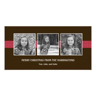 Ravishing Ribbons Holiday Card/ Christmas Card Photo Greeting Card