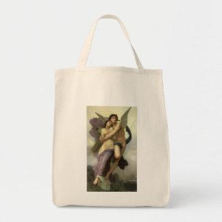 Ravishment by Bouguereau, Vintage Victorian Angel Canvas Bag