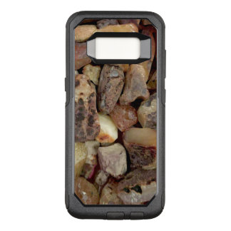 Raw amber pebbles OtterBox commuter samsung galaxy s8 case