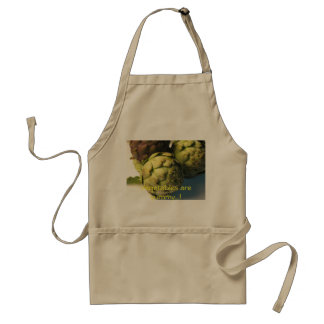 Raw artichokes standard apron